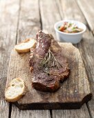Grilled beef shop with rosemary