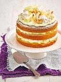 Zitronen-Kokos-Kuchen mit Baiser