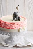 A strawberry cream cake to welcome a baby