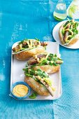 Pork and fennel hot dogs with chilli mayo