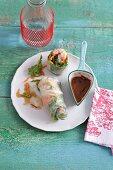 Fresh summer rolls with prawns
