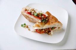 Unleavened bread with chickpeas and amchur