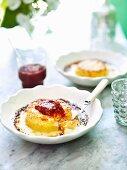 Bacon & Gruyere twice-baked souffle