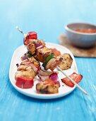 Turkey shish kebabs