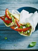 Piadine with grilled pumpkin