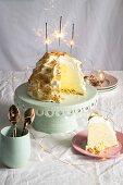 Coconut & lemon baked Alaska for Christmas