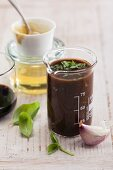 Balsamic and mustard dressing with agave syrup