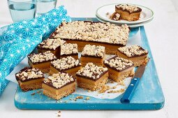 Gluten-free chocolate-caramel slice