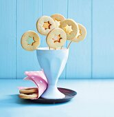 Colourful biscuit lollies