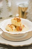 Steamed sweet Christmas dumplings
