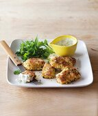 Fish nuggets with lime mayonnaise