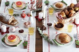 A large Christmas breakfast