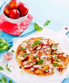 8 ways with summer stone fruit - Nectarine and prosciutto pizza