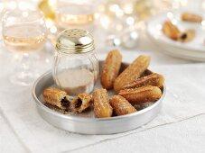 Churros with cinnamon sugar for Christmas