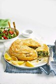 Spanakopita rice pie