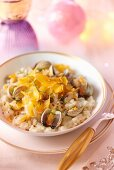 Risotto with mussels and bottarga for Christmas