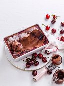 Chocolate & cherry ripple ice-cream