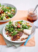 Roast Chicken with Rice Salad