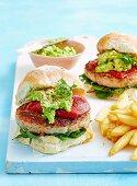 Crunchy Pork Burgers