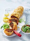 Spicy Lamb and Kale Roll