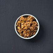 A bowl of biryani