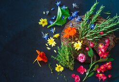 An arrangement of local herbs (Paleo)