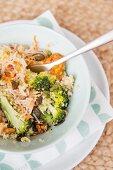 Gemüsegericht mit Brokkoli