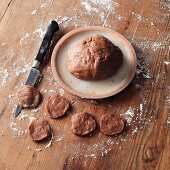 Dough for nutmeg and cinnamon biscuits