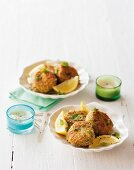 Crab cakes with pineapple