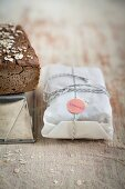 Gluten free bread wrapped for gifting