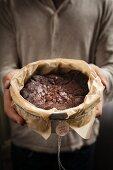 Homemade gluten free chocolate cake for gifting