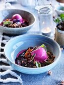Beetroot and chocolate with burnt orange