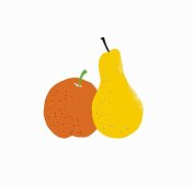 An apple and a pear