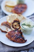 Grilled chicken breast with lemon and herb butter