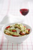 Fettuccine with Grilled Chicken and Coriander