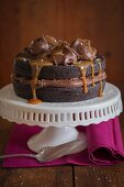 Chocolate Cake with Salted Caramel Sauce