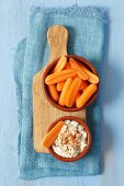 Carrots with a cheese dip