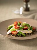 Warm Lentil and Smoked Chicken Salad