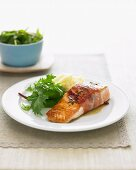 Pan-Fried Salmon with Prosciutto and Thyme