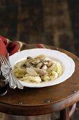 Fettuccine with Chicken and Mushroom Ragu