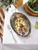 Chicken, Artichoke & Lemon Skewers