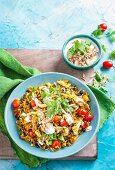 Moroccan style chicken rice