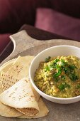 Indian Dhal with Naan Bread