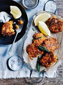 Carrot, precorino and sage fritters