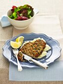 Almond Crusted Veal Schnitzel