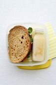 Lunch Box Legends - Salad Sandwich and a Bottle of Milk