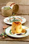 Duck liver cake with apple (Spain)