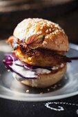 A mini veggie burger