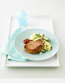Pork Cutlets with Rocket & Parmesan Mash