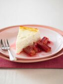 Baked Ricotta with Poached Rhubarb